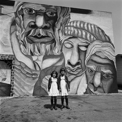 Two Girls Wearing White Dresses, East Los Angeles, 1978