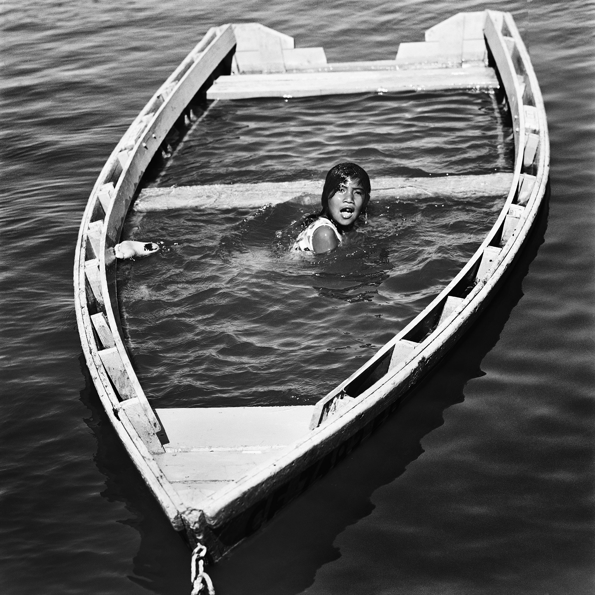 Girl Swimming in Boat, 1969