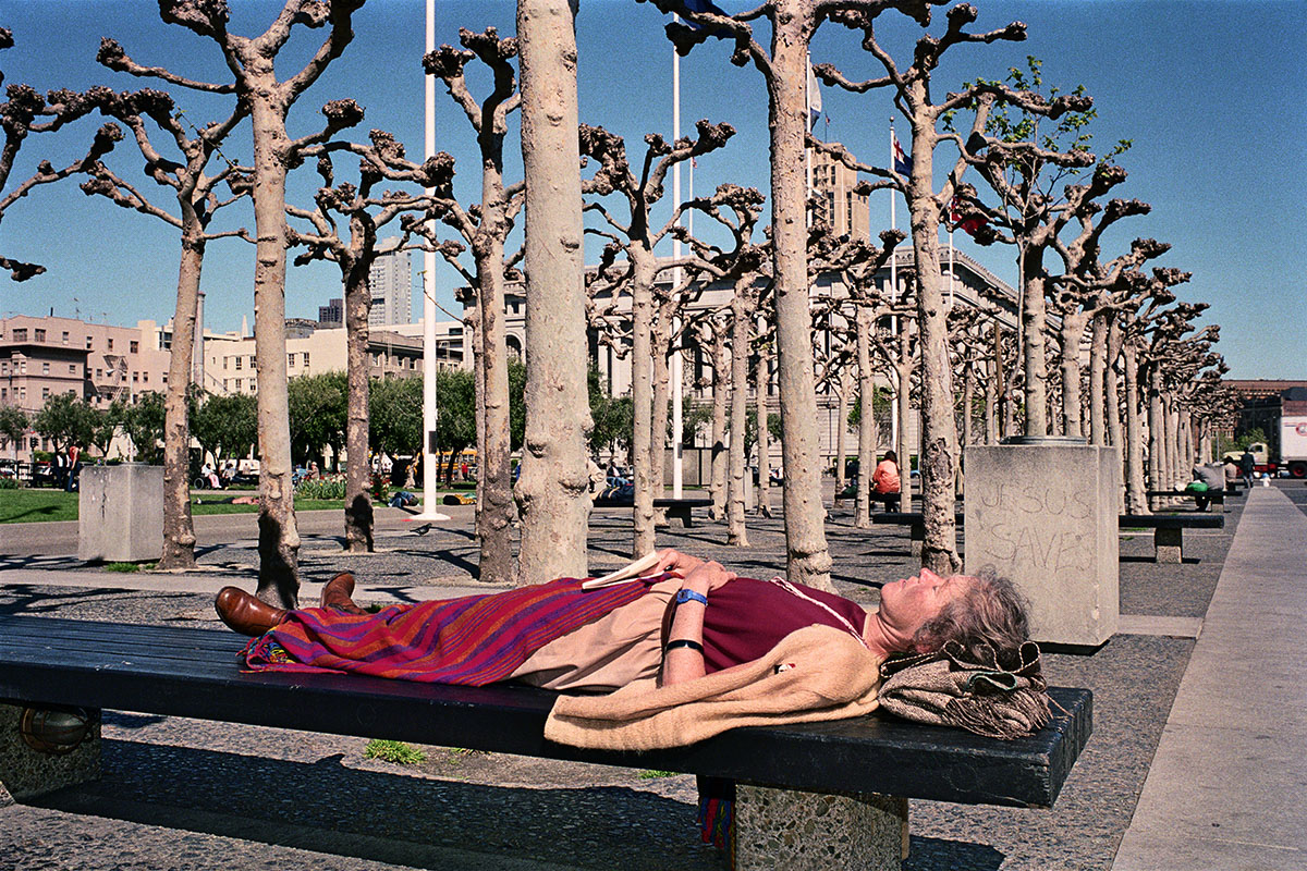 Woman Napping in Civic Center, 1986