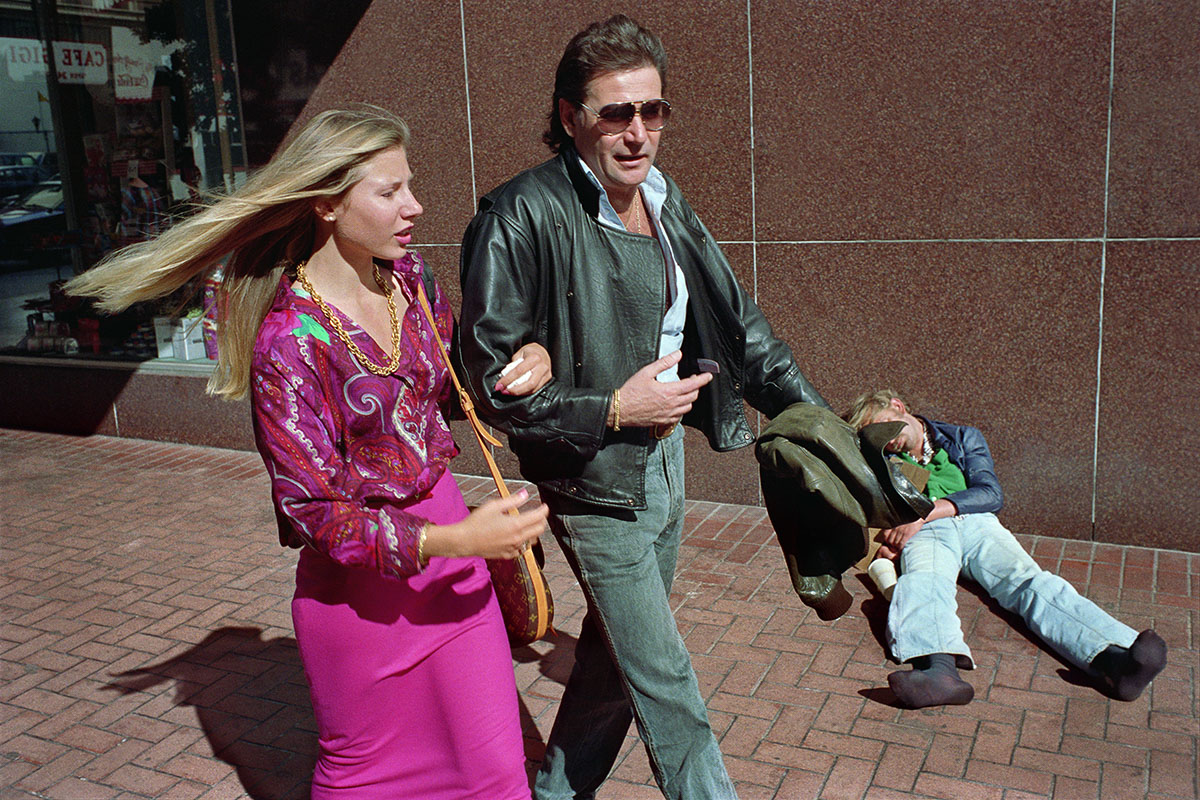 Couple & Homeless Man on Powell St, 1986