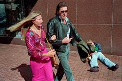Couple & Homeless Man on Powell St, 1986
