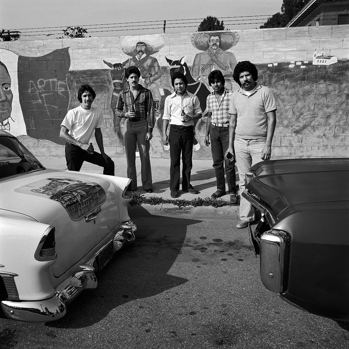 Five Youths with Cars, East Los Angeles, 1978