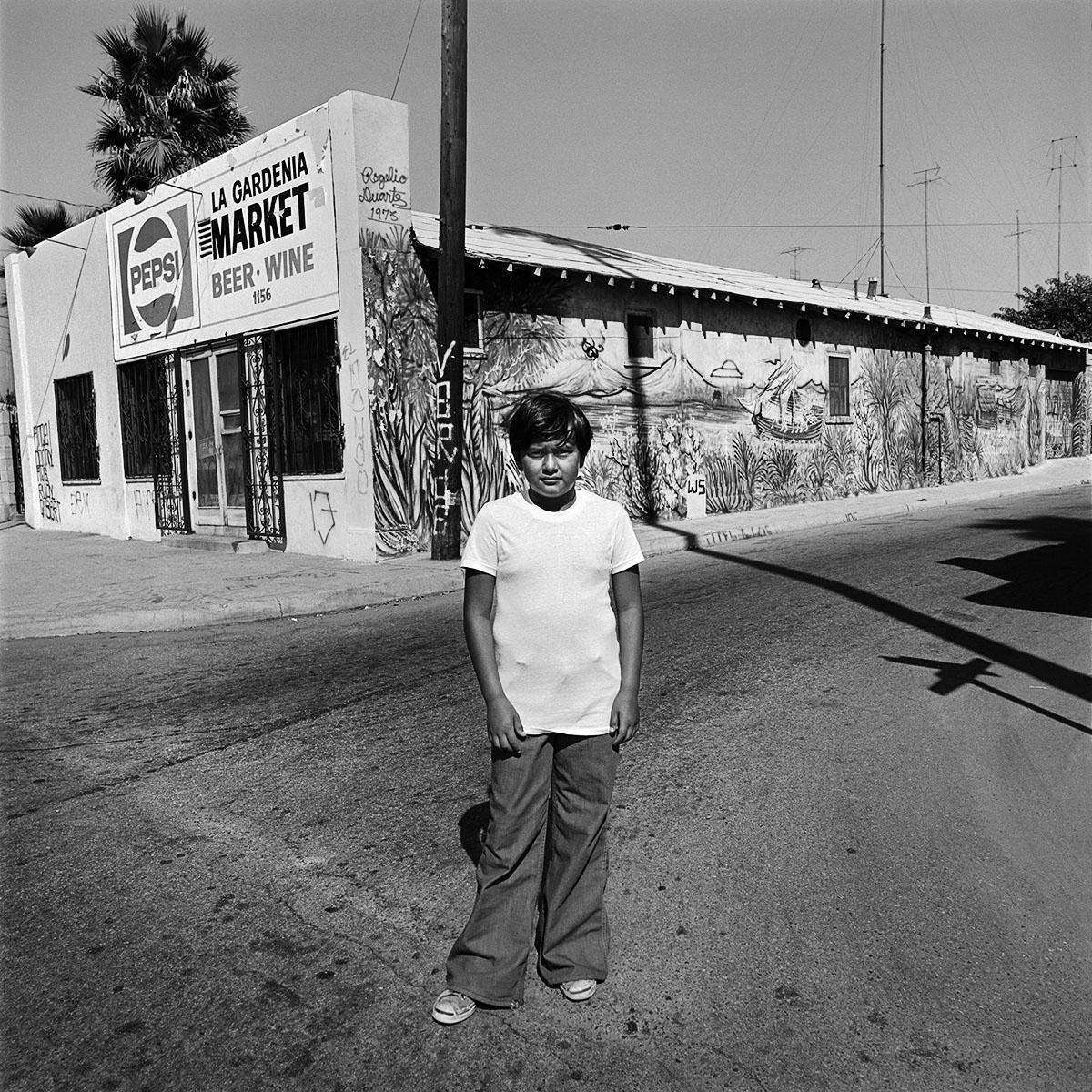 Boy on Davidson Avenue, San Bernardino, CA, 1978
