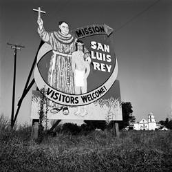 Billboard at Mission San Luis Rey, 1976