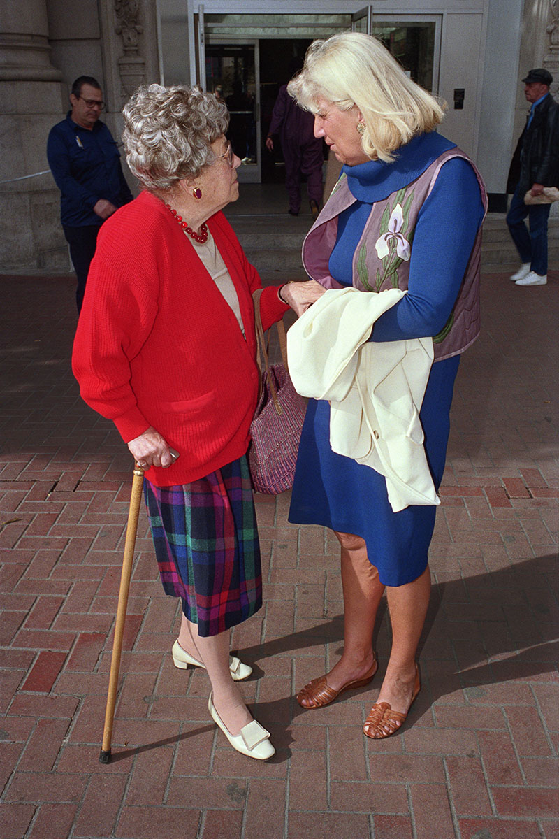Two Women Talking on Market St, 1986