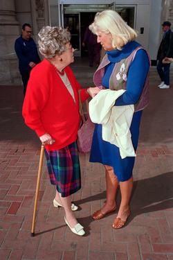 Two Women Talking on Market St, 1986