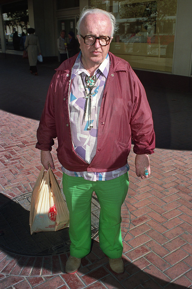 Man Wearing Turquoise on Market St, 1986