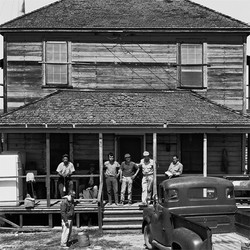 Farmworkers on Porch, 1968