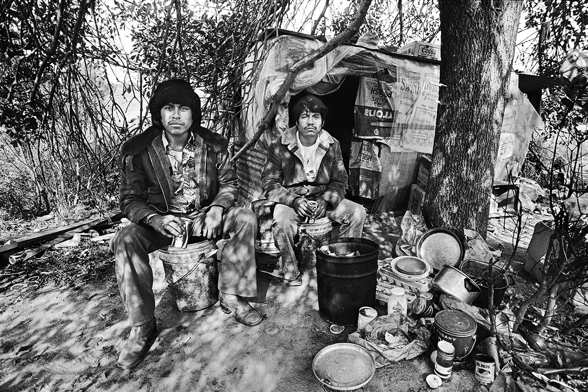 Two Fieldworkers Cooking a Meal, 1979