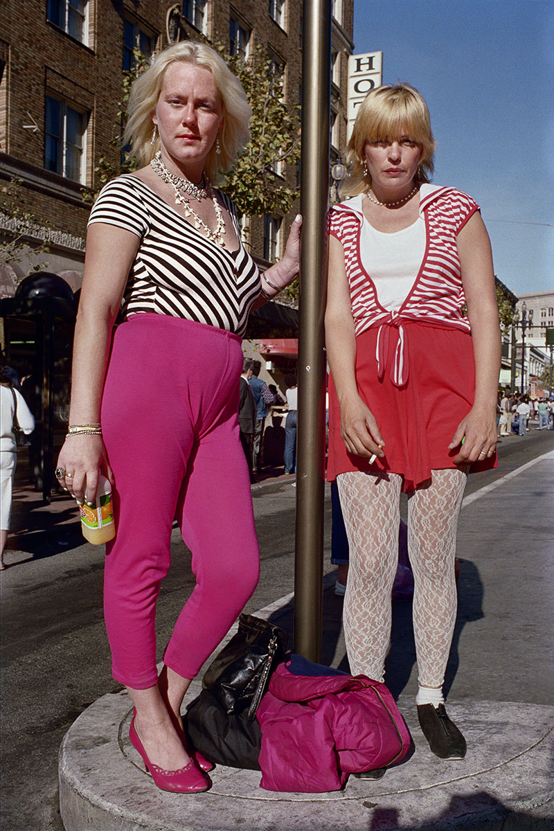 Two Young Women on Market St, _1986