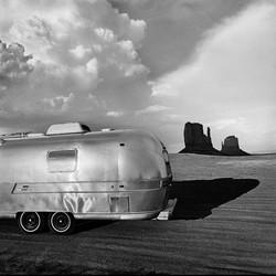 Airstream at Monument Valley, Utah, 1979