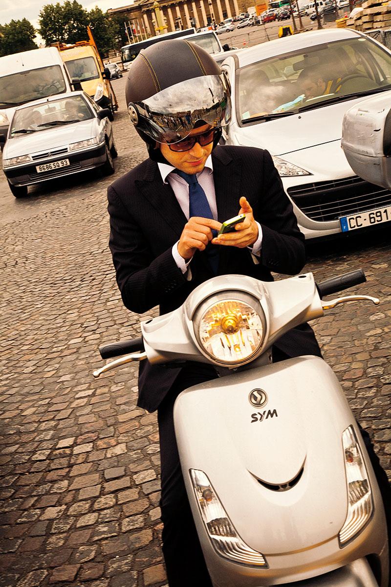 Man on Vespa, Paris, France, 2012