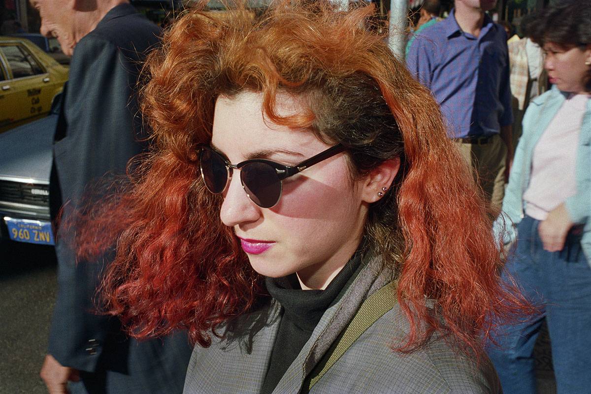 Young Woman with Red Hair on Powell St, 1986