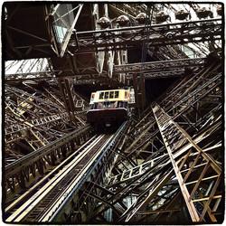 Lift, The Eiffel Tower, Paris, France, 2012
