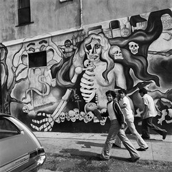 Thee Boys Walking, East Los Angeles, 1978