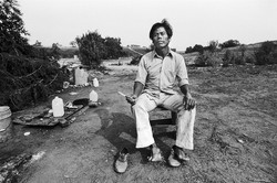 Fieldworker with Knife, 1979