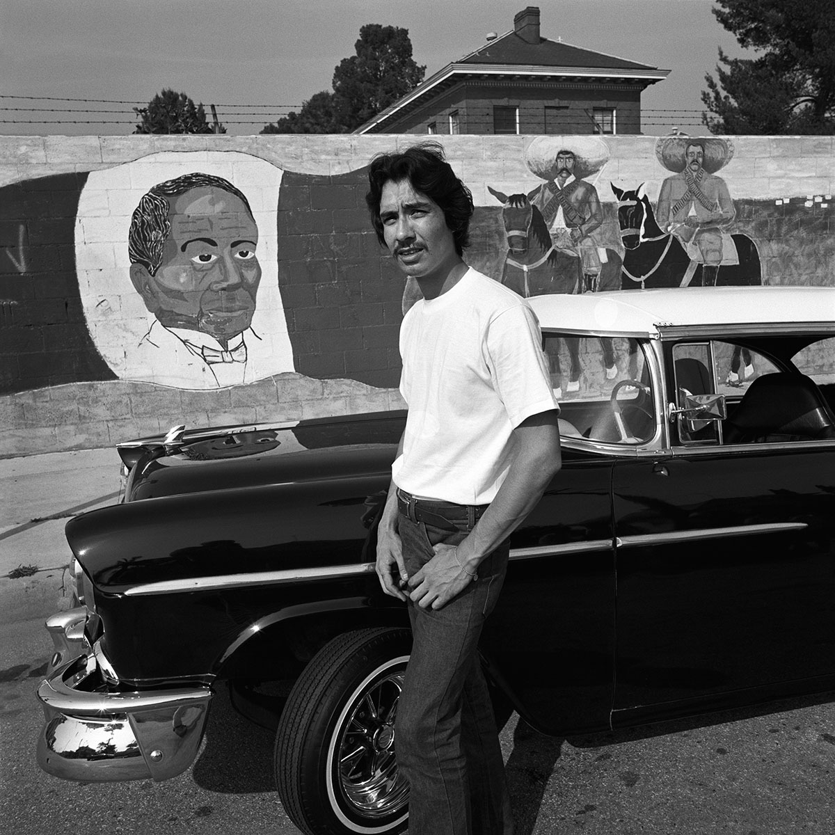 Young Man & '57 Chevy, East Los Angeles, 1978