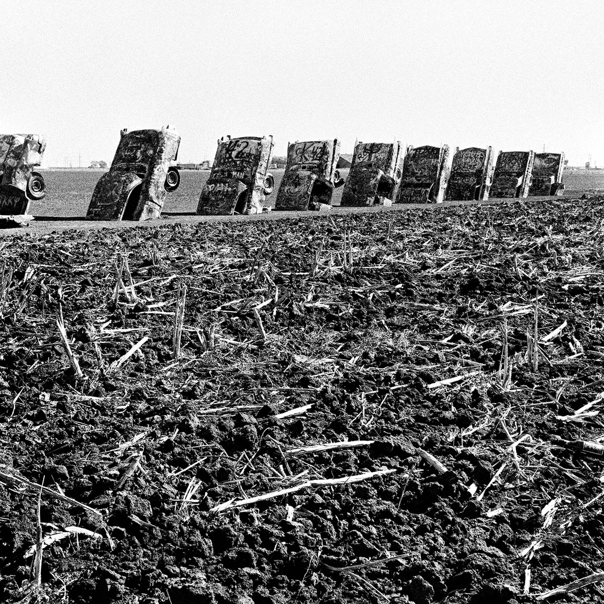 Cadillac Ranch near Amarillo, Texas, 1997
