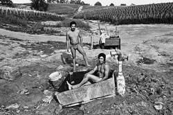 Two Fieldworkers Bathing, 1979