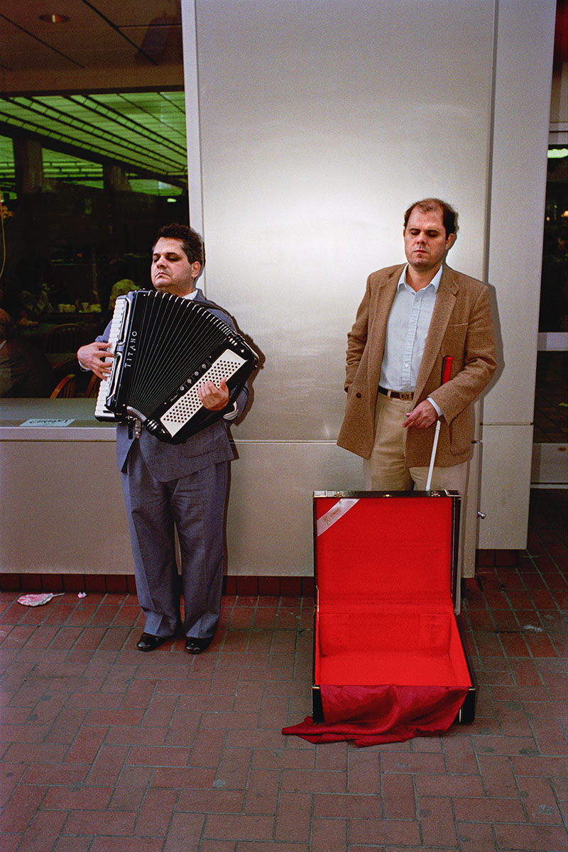 Accordionist on Powell St, 1986