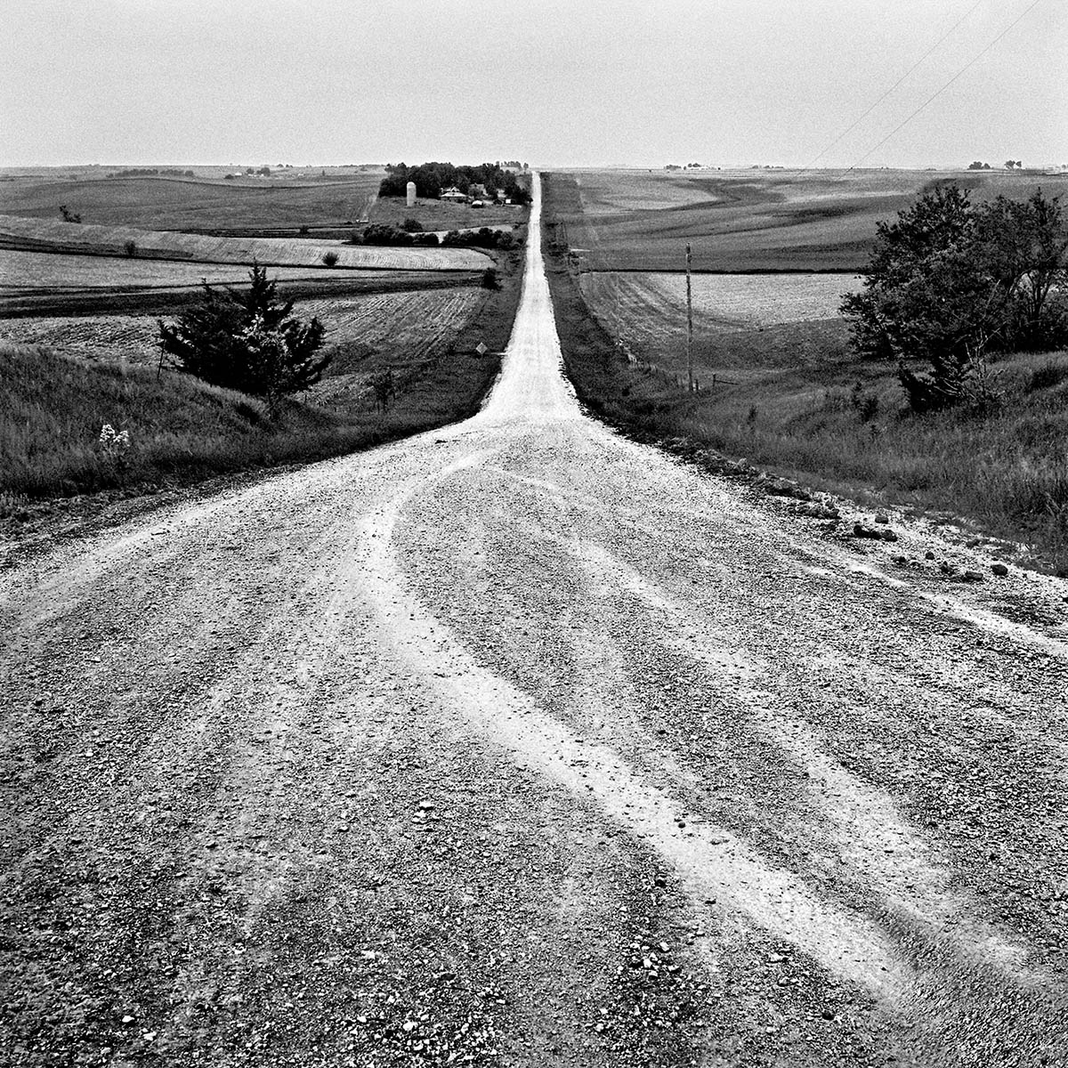 Country Road off I-80, Iowa, 1997