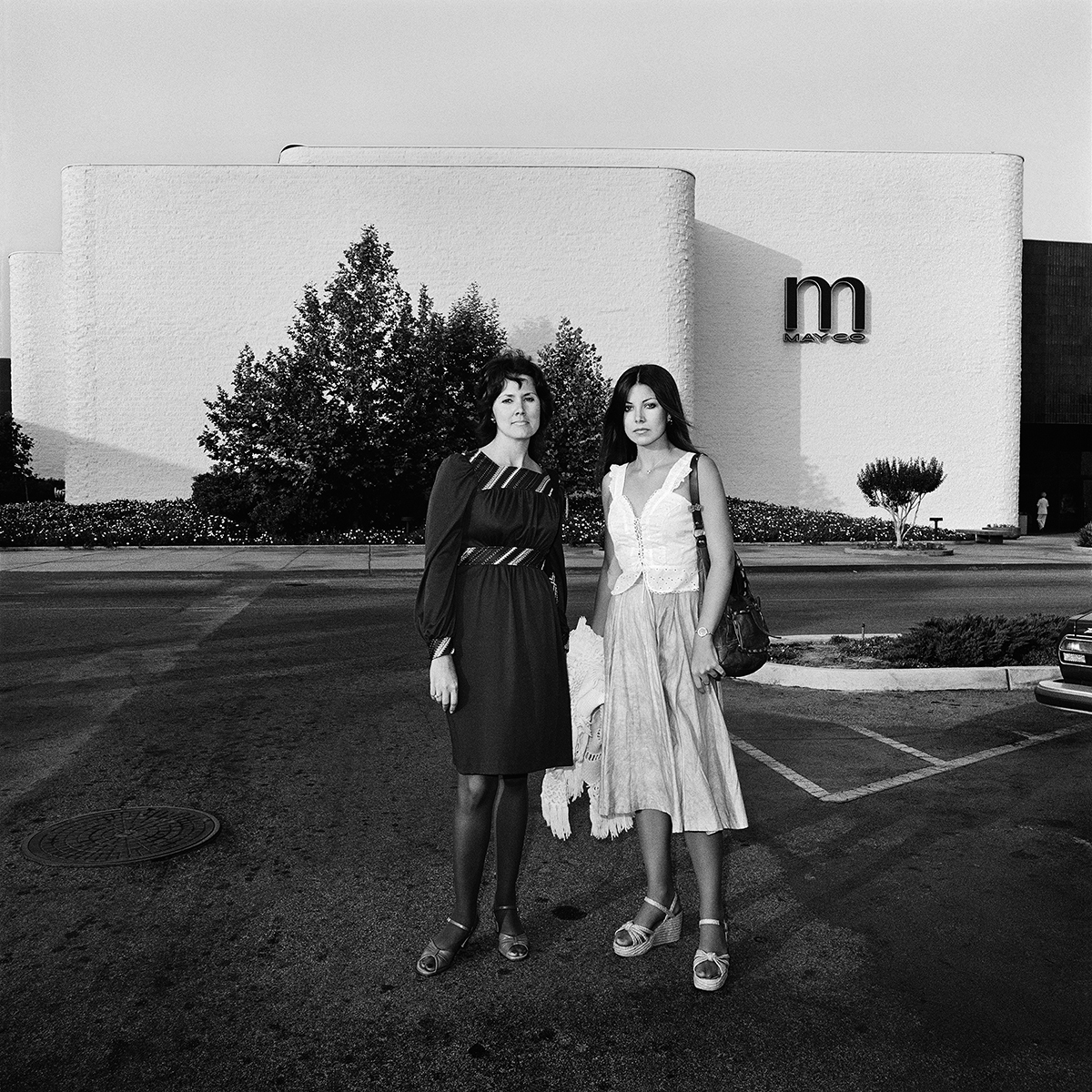 Two Young Woman at May Co, 1976