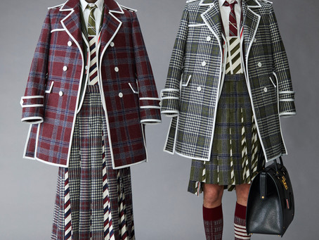 Pleats, Plaid and Piping- Thom Browne Pre-Fall 2021 Menswear