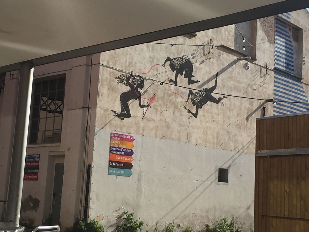 Photo: Mural at the Roca Umbert arts centre (Granollers, Spain)