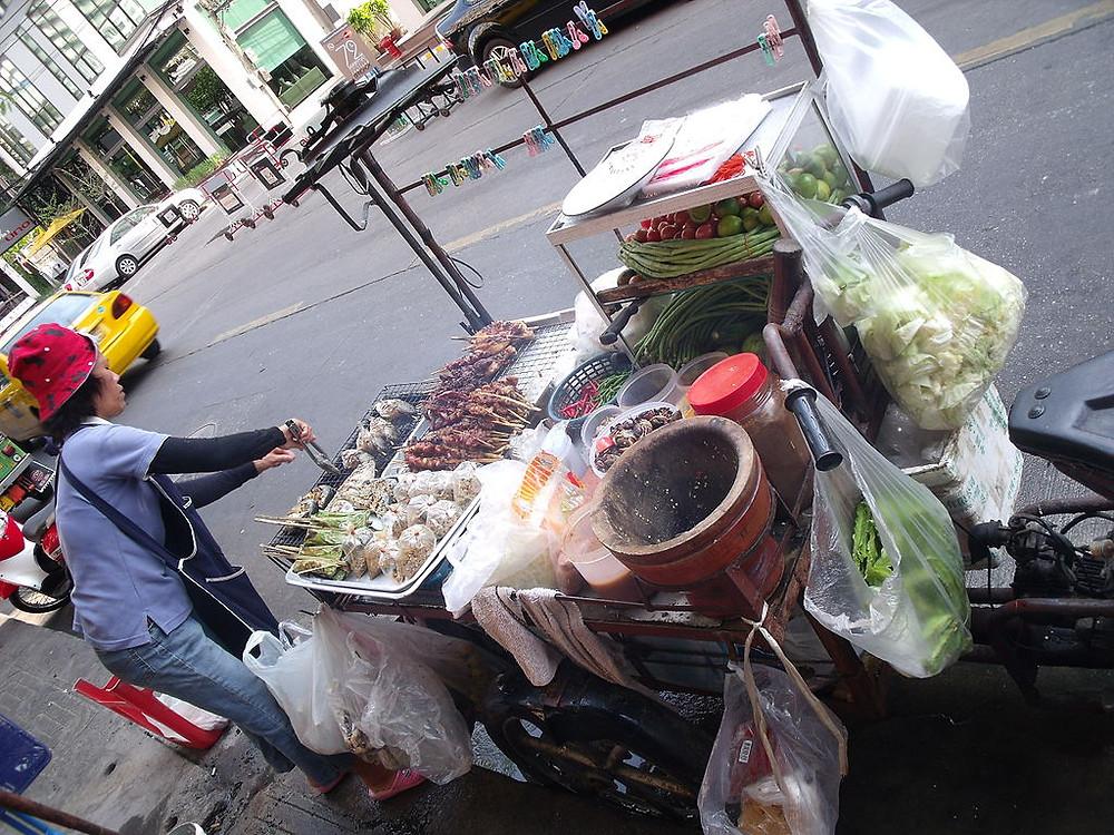 Photo:  Bangkok street food vendor