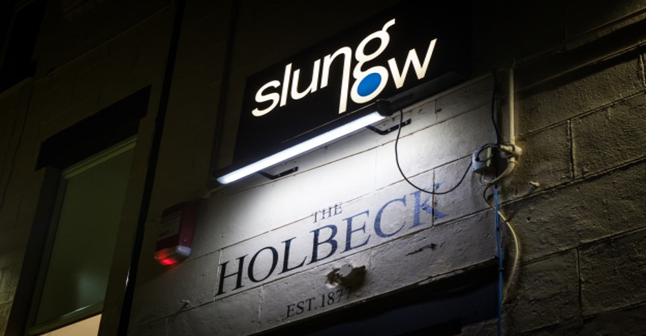 Entrance to The Holbeck, 2019