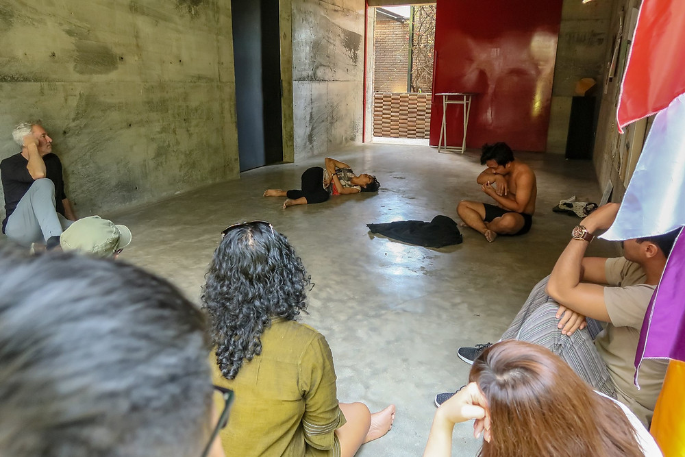 Photo: Workshop showing of a dance segment for the dramaturgy lab.