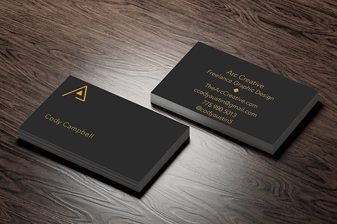 Business Card Design from the Arc Creative. Complete business card design in Reno, Nevada.