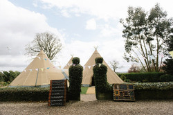 Tipi wedding on the front lawn