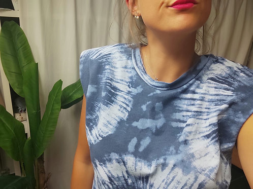 Tee-shirts épaulettes Tie and dye