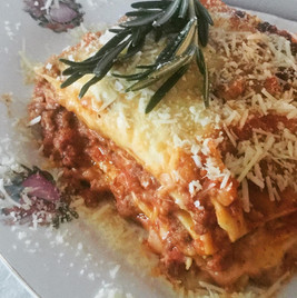 Homemade lasagne for lunch