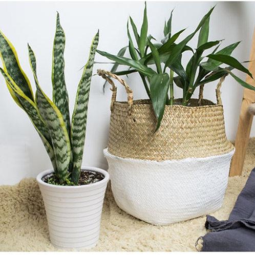 Rattan Straw Wicker Storage Plant Pot