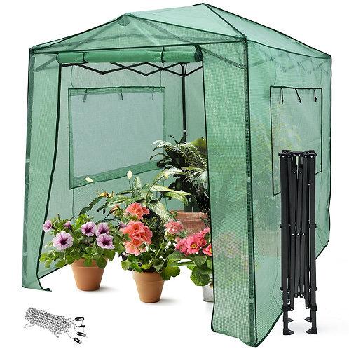 6'x 8' Portable Walk-In Greenhouse Pop-Up Folding W/Window GT3563GN
