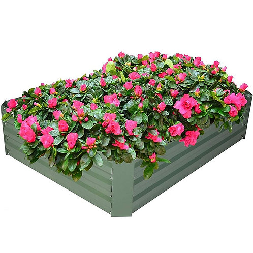 Raised Garden Bed Galvanized Planter48 in X 36in X 12in Square