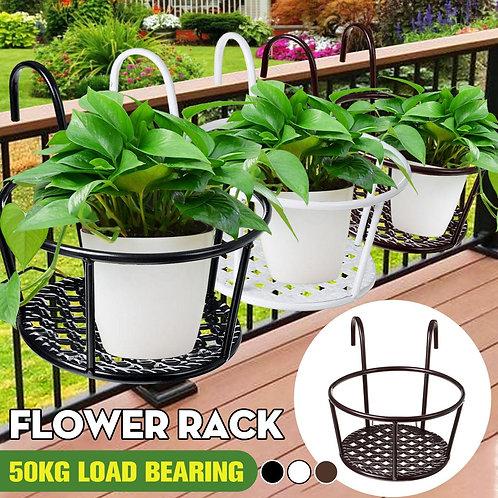 Iron Railings Flower Pot Holder Creative Hanging  Basin Shelf  For Balcony