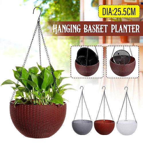 1Pcs Hanging Planter Basket Plastic Vase
