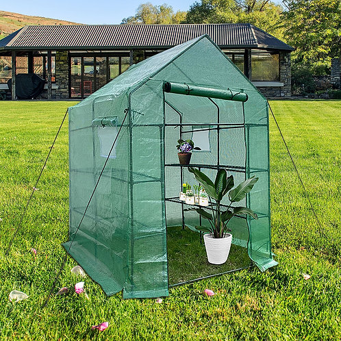 Walk-In Greenhouse with Cover and Frame