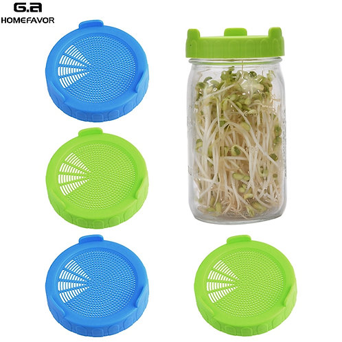 Sprouts Lids Set  Food Grade Mason Jars Lid With Silicone Sealing