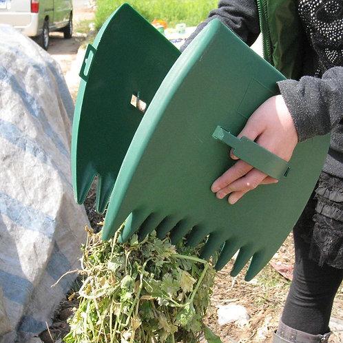 1 Pair Garden Yard Leaf Scoops Hand Rake Large Leaf Grabber With Leaf Claws
