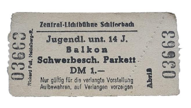 Zentral-Lichtbühne Ticket-Schlierbach