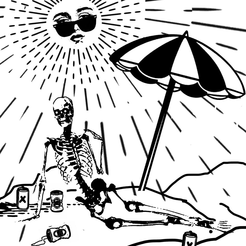 Skelly goes to the beach!