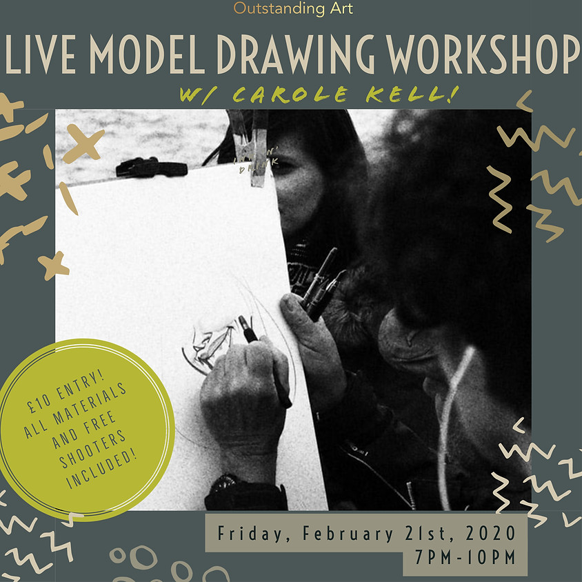 Ink 'n' Drink: Live Model Drawing Session w/ Carole Kell