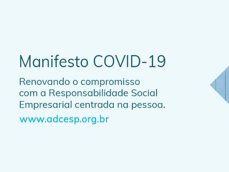 Manifesto ADCE Coronavírus - Covid-19