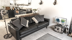 1950s Inspired Leather Sofa