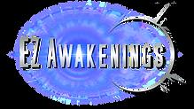 EZ Awakenings logo with colored lense fl