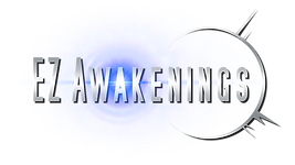EZ Awakenings logo with colored lense fl